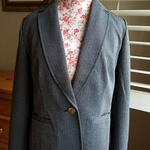 Black and grey medium blazer Anne Klein